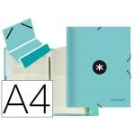 Liderpapel Antartik AW53 - Carpeta clasificadora con gomas, una solapa, tamaño A4, 12 departamentos, color menta