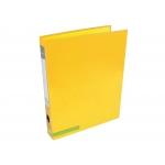 Liderpapel AY20 - Carpeta de anillas, 2 anillas mixtas de 25 mm, cartón forrado, tamaño A4, color amarillo