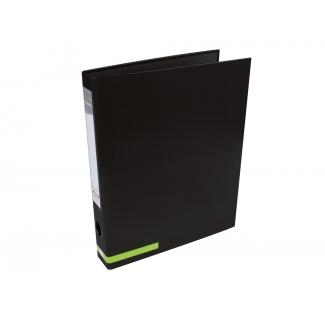 Liderpapel AY21 - Carpeta de anillas, 2 anillas mixtas de 25 mm, cartón forrado, tamaño A4, color negro