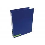 Liderpapel AY24 - Carpeta de anillas, 2 anillas mixtas de 25 mm, cartón forrado, tamaño A4, color azul