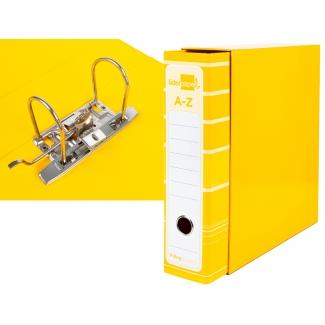 Liderpapel AZ13 - Archivador de palanca, tamaño A4, lomo ancho, con caja, color amarillo