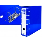 Liderpapel AZ14 - Archivador de palanca, tamaño A4, lomo ancho, con caja, color azul