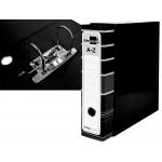 Liderpapel AZ15 - Archivador de palanca, tamaño A4, lomo ancho, con caja, color negro