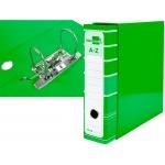 Liderpapel AZ17 - Archivador de palanca, tamaño A4, lomo ancho, con caja, color verde