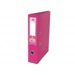 Liderpapel AZ80 - Archivador de palanca, tamaño A4, lomo estrecho, con rado, color rosa
