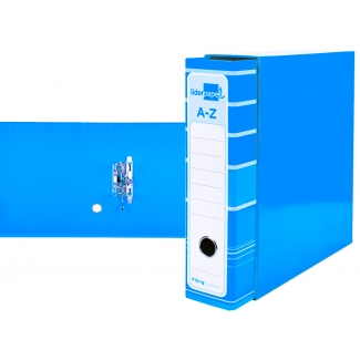 Pregunta sobre Liderpapel AZ91 - Archivador de palanca, tamaño A4, lomo ancho, con caja, color celeste