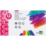 Liderpapel BD01 - Ceras blandas, caja de 12 colores