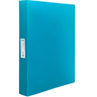 Liderpapel CA60 - Carpeta de anillas, 4 anillas mixtas de 25 mm, polipropileno, A4, color azul translúcido