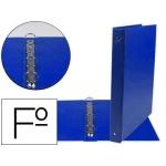 Liderpapel CA96 - Carpeta de anillas, 4 anillas redondas de 25 mm, plástico, tamaño folio, color azul marino
