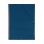 Liderpapel - Carpeta de plástico con gomas, con tres solapas, lomo flexible, tamaño A5, color azul