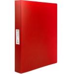 Liderpapel CH30 - Carpeta de anillas, 4 anillas mixtas de 25 mm, polipropileno, A4, color rojo translúcido