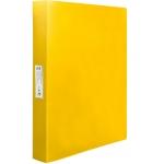 Liderpapel CH32 - Carpeta de anillas, 4 anillas mixtas de 25 mm, polipropileno, A4, color amarillo fluorescente opaco