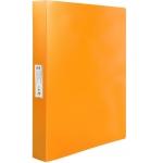 Liderpapel CH33 - Carpeta de anillas, 4 anillas mixtas de 25 mm, polipropileno, A4, color naranja fluorescente opaco