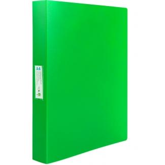 Liderpapel CH36 - Carpeta de anillas, 4 anillas mixtas de 25 mm, polipropileno, A4, color verde manzana opaco