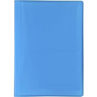 Liderpapel CJ11 - Carpeta con fundas, tapa flexible, A4, 20 fundas, color azul translúcido