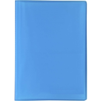 Liderpapel CJ14 - Carpeta con fundas, tapa flexible, A4, 10 fundas, color azul translúcido