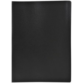 Liderpapel CJ33 - Carpeta con fundas, lomo personalizable, tapa flexible, A4, 10 fundas, color negro opaco
