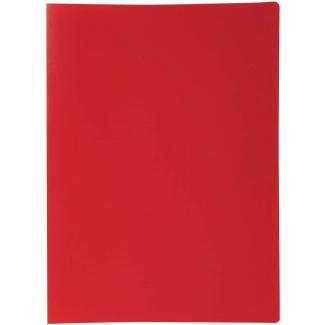 Liderpapel CJ34 - Carpeta con fundas, lomo personalizable, tapa flexible, A4, 10 fundas, color rojo opaco