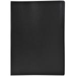 Liderpapel CJ37 - Carpeta con fundas, lomo personalizable, tapa flexible, A4, 20 fundas, color negro opaco