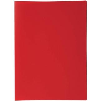 Liderpapel CJ46 - Carpeta con fundas, lomo personalizable, tapa flexible, A4, 40 fundas, color rojo opaco