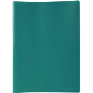 Liderpapel CJ47 - Carpeta con fundas, lomo personalizable, tapa flexible, A4, 40 fundas, color verde opaco