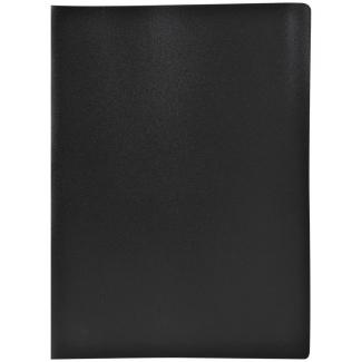 Liderpapel CJ49 - Carpeta con fundas, lomo personalizable, tapa flexible, A4, 60 fundas, color negro opaco