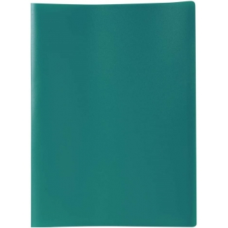 Liderpapel CJ55 - Carpeta con fundas, lomo personalizable, tapa flexible, A4, 80 fundas, color verde opaco