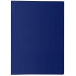 Liderpapel CJ56 - Carpeta con fundas, portada y lomo personalizable, tapa flexible, A4, 20 fundas, color azul opaco