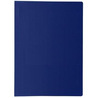 Liderpapel CJ60 - Carpeta con fundas, portada y lomo personalizable, tapa flexible, A4, 40 fundas, color azul opaco