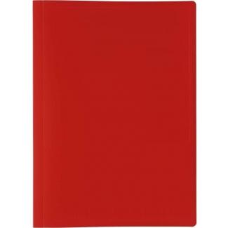 Liderpapel CJ82 - Carpeta con fundas, tapa flexible, A4, 50 fundas, color rojo translúcido