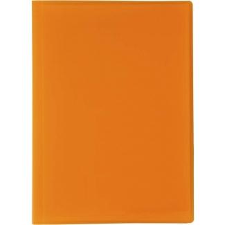 Liderpapel CJ84 - Carpeta con fundas, tapa flexible, A4, 50 fundas, color naranja translúcido