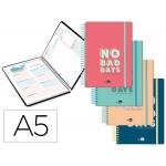 Liderpapel Classic - Agenda escolar, 2020-2021, tamaño A5, impresión día página, tapa cartón laminada, encuadernada con espiral, cierre con goma