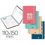 Liderpapel Classic Mini - Agenda escolar, 2020-2021, tamaño 110x150 mm, impresión día página en castellano, catalán, gallego y vasco, tapa cartón laminado, encuadernada con espiral, cierre con goma