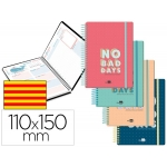 Liderpapel Classic Mini - Agenda escolar, 2020-2021, tamaño 110x150 mm, impresión día página en catalán, tapa cartón laminado, encuadernada con espiral, cierre con goma