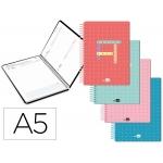 Liderpapel College - Agenda escolar, 2020-2021, tamaño A5, impresión día página, tapa polipropileno, encuadernada con espiral, cierre con goma