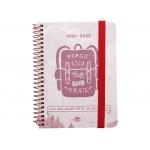 Liderpapel College Mini LP315 - Agenda escolar, 2021-2022, tamaño 110 x 150 mm, impresión día página, tapa cartón laminado, encuadernada con espiral, cierre con goma