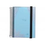 Liderpapel College Mini LP312 - Agenda escolar, 2021-2022, tamaño 110 x 150 mm, impresión día página, tapa polipropileno, encuadernada con espiral, cierre con goma