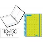 Liderpapel College Mini - Agenda escolar, 2020-2021, tamaño 110x150 mm, impresión día página, tapa polipropileno personalizable, encuadernada con espiral, cierre con goma