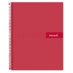 Liderpapel Crafty BA06 - Bloc espiral, tamaño A4, tapa extradura, 120 hojas de 90 gr, cuadrícula de 5 mm, sin margen, microperforado, color rojo