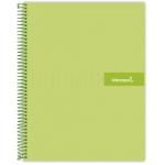 Liderpapel Crafty BA07 - Bloc espiral, tamaño A4, tapa extradura, 120 hojas de 90 gr, cuadrícula de 5 mm, sin margen, microperforado, color verde