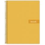 Liderpapel Crafty BA10 - Bloc espiral, tamaño A4, tapa extradura, 120 hojas de 90 gr, cuadrícula de 5 mm, sin margen, microperforado, color naranja