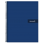 Liderpapel Crafty BF46 - Bloc espiral, tamaño A4, tapa extradura, 80 hojas de 90 gr, cuadrícula de 4 mm, con margen, color azul marino