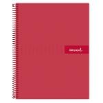 Liderpapel Crafty BF47 - Bloc espiral, tamaño A4, tapa extradura, 80 hojas de 90 gr, cuadrícula de 4 mm, con margen, color rojo