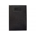 Liderpapel Creta - Agenda anual, tamaño 8 x 15 cm, impresión semana vista, color negro