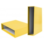 Liderpapel CZ18 - Caja para archivador, tamaño folio, lomo ancho, color amarillo