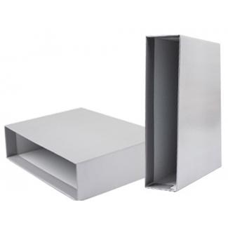 Liderpapel CZ19 - Caja para archivador, tamaño folio, lomo ancho, color gris