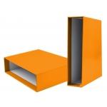 Liderpapel CZ20 - Caja para archivador, tamaño folio, lomo ancho, color naranja