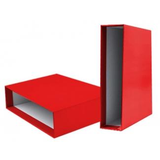 Liderpapel CZ23 - Caja para archivador, tamaño A4, lomo ancho, color rojo