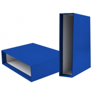 Liderpapel CZ24 - Caja para archivador, tamaño A4, lomo ancho, color azul