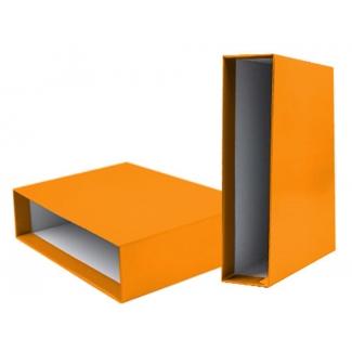 Liderpapel CZ28 - Caja para archivador, tamaño A4, lomo ancho, color naranja